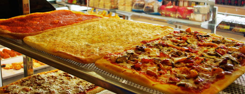 Our homemade, hand rolled pizza is made fresh all day, every day!